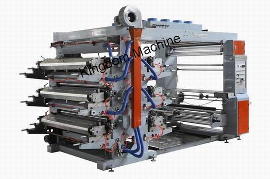Máquina impresora flexográfica de 6 colores